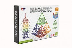 Magnetická stavebnica 120 ks plast / kov v krabici 28x19x5cm RM_00850359