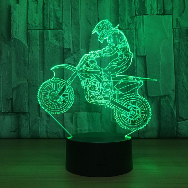 3D LED lampa Mike 1