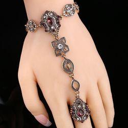 Narukvica sa prstenom - ljubičasta