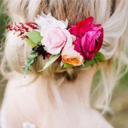 Украса за коса с мотив на цветя Juliána