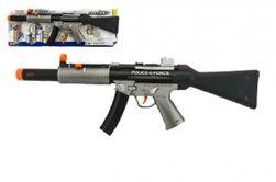 Pistole samopal policie plast 59cm na baterie se zvukem se světlem na kartě RM_00311608