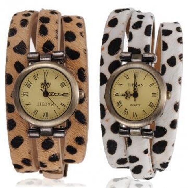 Dámské vintage hodinky s koženým páskem 1
