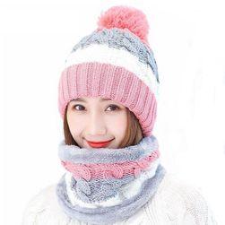 Дамска шапка с лента за шия DCN01