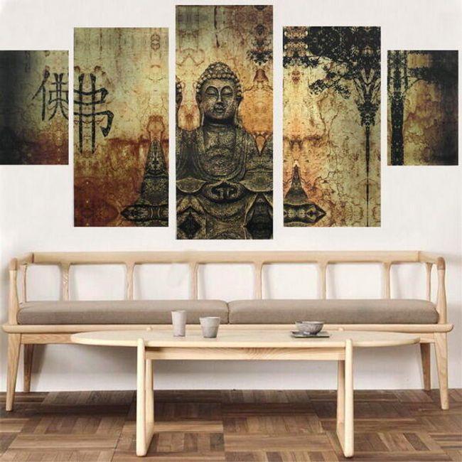 Keret nélküli Buddha-kép 1