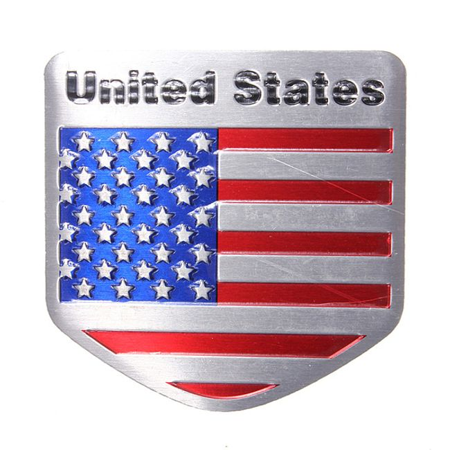 United States alüminyum araba çıkartması  1