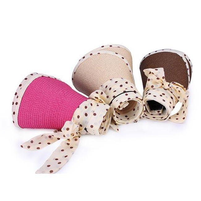 Dívčí klobouček s puntíky - 5 barev 1