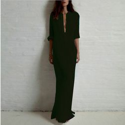 Длинное платье- рубашка- 3 цвета