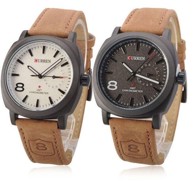 Elegancki zegarek męski Curren - 2 kolory tarczy 1