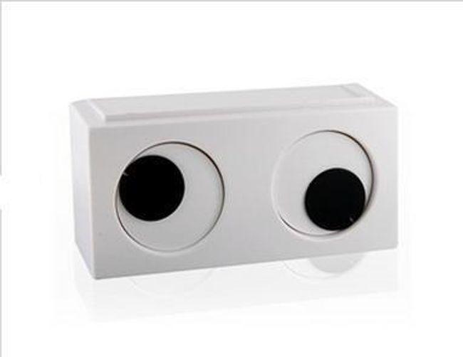 Originální hodiny v podobě očí - bílé 1