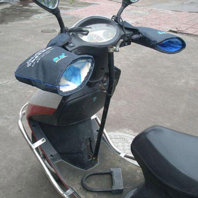 Zimní rukavice na motocykl skútr 1