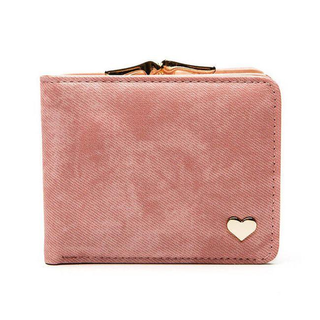 Retro pénztárca szívvel