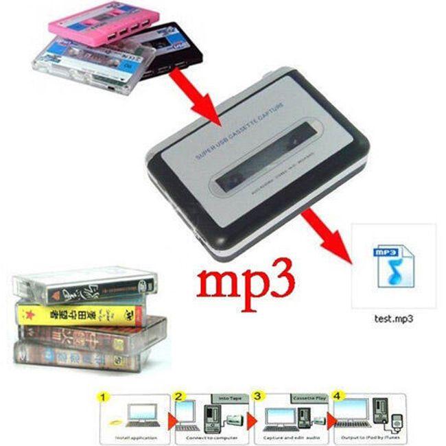 Konwerter kasetowy - umie zmienić format nagrania z kasetowego MC na MP3 1