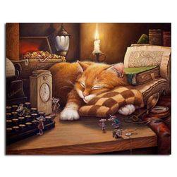 Slikanje po brojevima - crvenokosa mačka