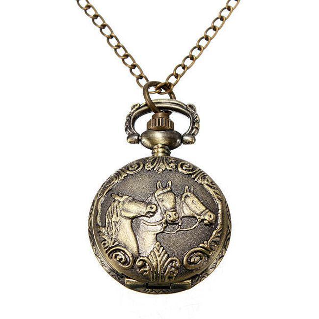 Zegarek na łańcuszku z motywem konia 1