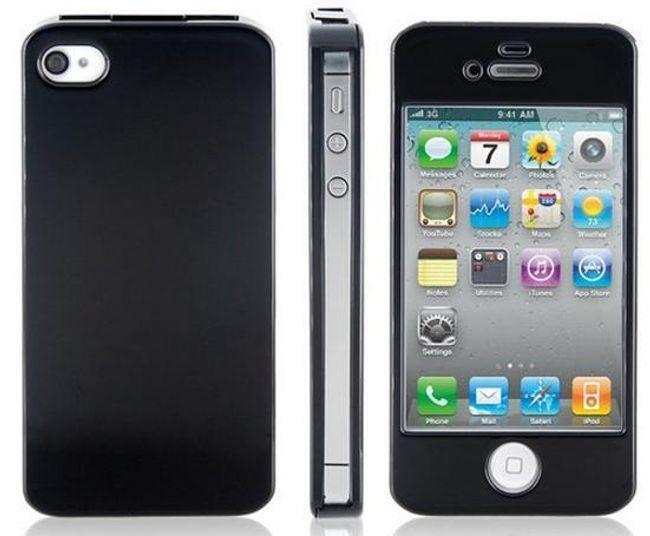 Plastové ochranné pouzdro pro iPhone 4 - černé 1