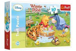Puzzle Medvídek Pú  Prasátko se koupe 27x20cm 30 dílků v krabici 21x14x4cm RM_89118198