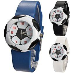 Силиконов часовник с мотив на футболна топка