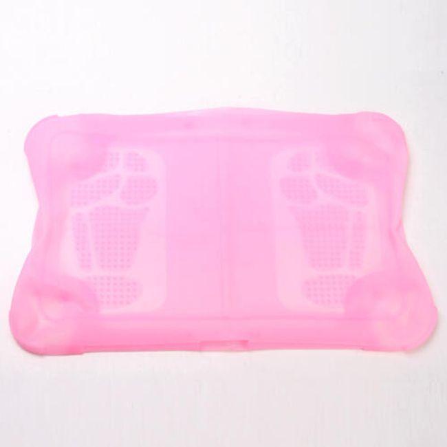Růžový silikonový obal na balanční podložku NINTENDO Wii Fit 1