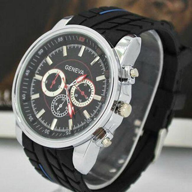 Silikonowy zegarek GENEVA - unisex, 6 kolorów 1