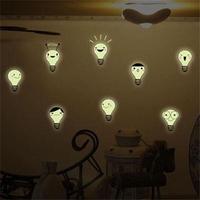 Fluorescentne nalepke - žarnice 1