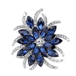 Broš u obliku plavog cveća