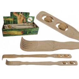 Bambusové drbátko na záda s masážními válci PD_1044374