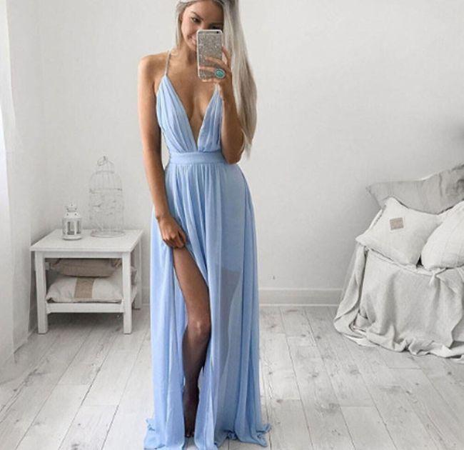Dámské šaty se svůdným výstřihem - 4 barvy 1