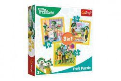 Puzzle 3v1 Rodina Treflíků 20x19,5cm v krabici 28x28x6cm RM_89134850