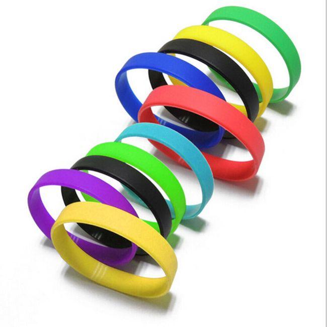 Barvne zapestnice iz gume - 12 kosov 1