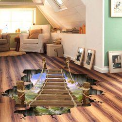 3D стикер на пода - Мост над бездната