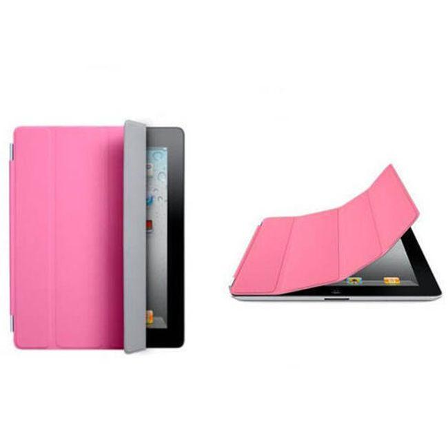 Magnetický chytrý kryt pro iPad 2 - růžový 1