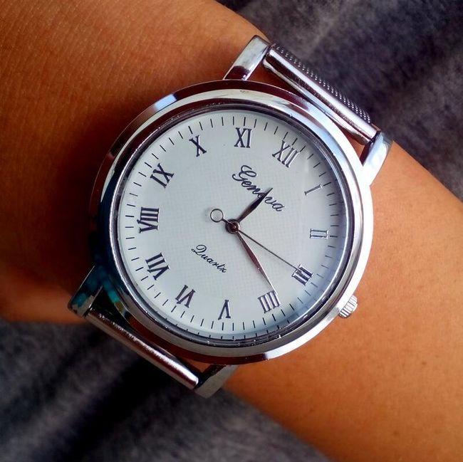 Ceas argintiu elegant de damă 1