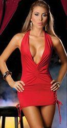 Dámské mini šaty DS256 Červená