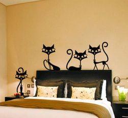Stenska nalepka z mačkami