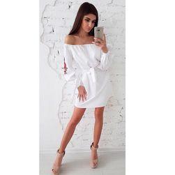 Luźna sukienka damska bez ramiączek - 3 kolory