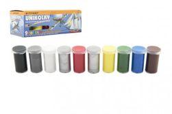 Unikolky modelárske farby sada 9 farieb + matný lak zadarmo v krabičke RM_10523831