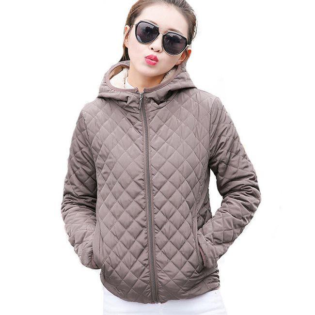 Női kabát kapucnival - 4 szín