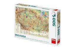 Puzzle Mapa České Republiky 47x33cm 500dílků v krabici 33x23x3,5cm RM_21502321