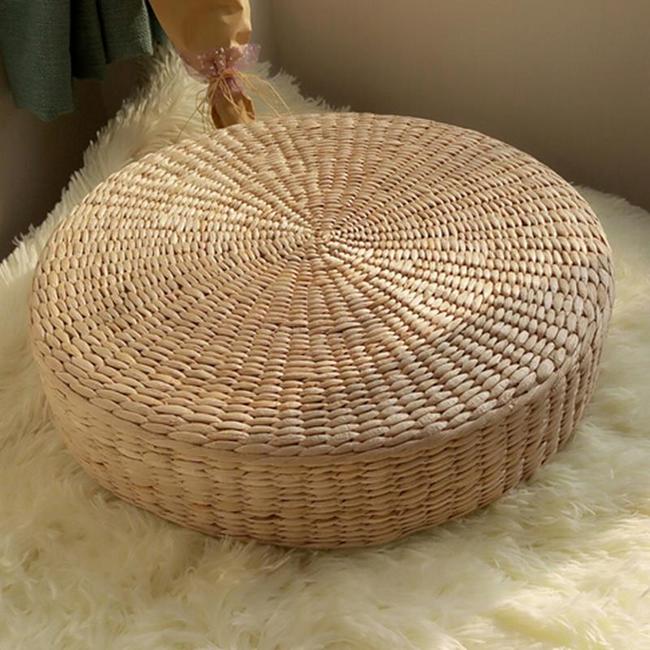 Подушка для йоги и медитации - соломенная 1