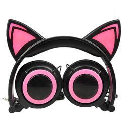 Căști cu urechi de pisică Kitty