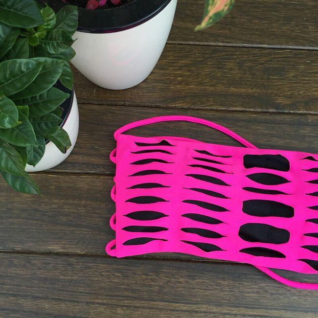 Szexi stílusú fürdőruha - rózsaszín - méret 3