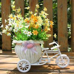 Ozdobny rowerek trzykołowy z koszykiem Provence
