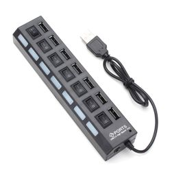 USB hub 7 porttal - két színben