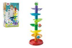 Kuličková dráha - věž 50cm 10ks 3 kuličky plast v krabici 9m+ RM_00517027