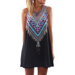 Letní plážové šaty s indiánským vzorem - 2 barvy
