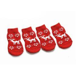 Protiskluzové vánoční ponožky pro psy