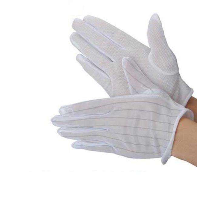 Antisztatikus csúszásgátló kesztyű - fehér 1