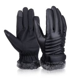 Męskie zimowe ocieplane rękawice - 2 warianty