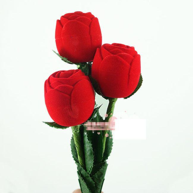 Pouzdro na šperky ve tvaru růže 1