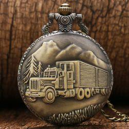 Zegarek kieszonkowy z ciężarówką